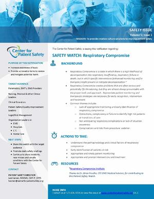 Safety Watch: Respiratory Compromise