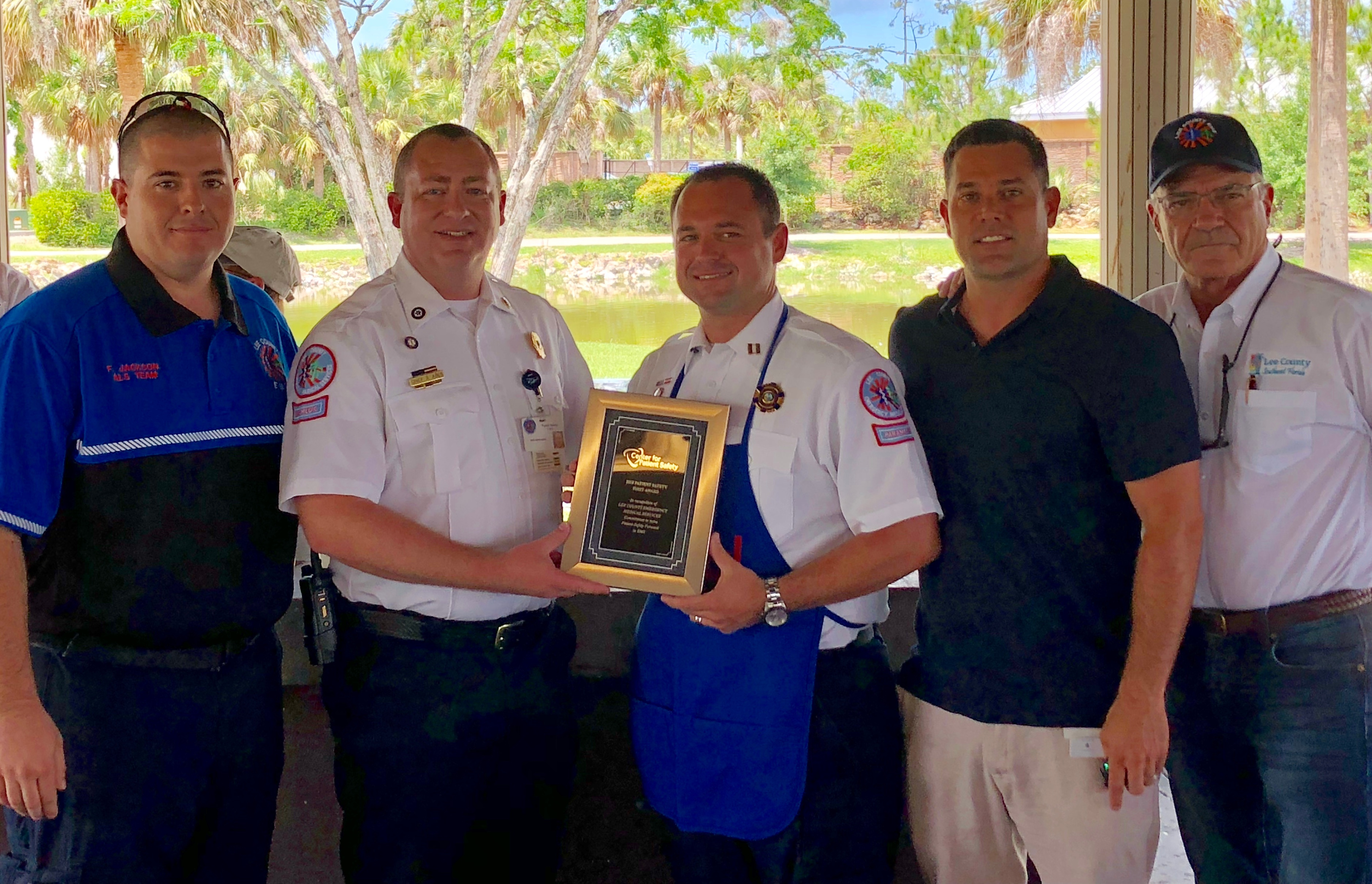 Lee County EMS is Awarded the EMS Patient Safety First Award