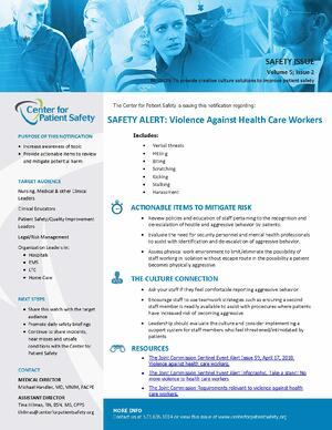 Violence Against Healthcare Workers